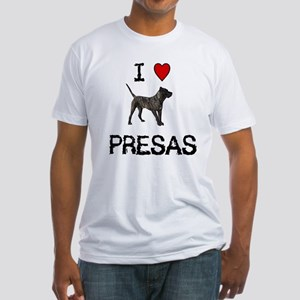 I love Presas Fitted T-Shirt