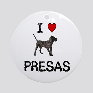 I love Presas Ornament (Round)