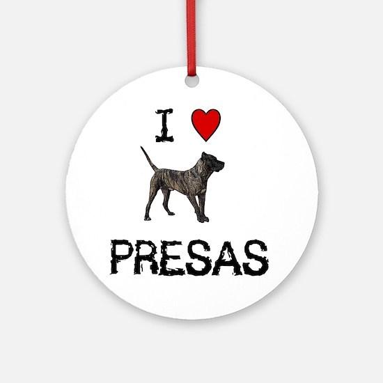 I love Presas Ornament (Round)
