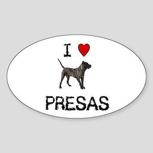 I love Presas Oval Sticker