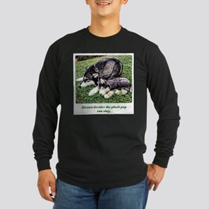 Snow Dog with Mimi Me Long Sleeve Dark T-Shirt