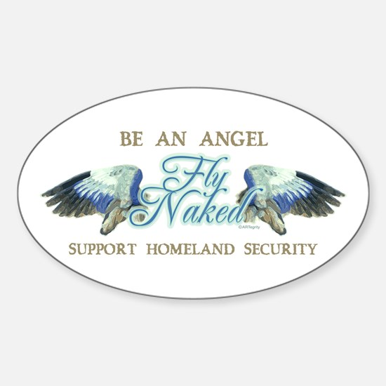 Flying Naked Oval Decal