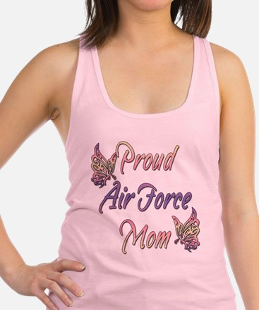 proudairforcemombutterfly.png Racerback Tank Top