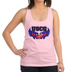 uscgheartwing2 Racerback Tank Top