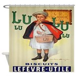 Vintage French LuLu Biscuits Shower Curtain