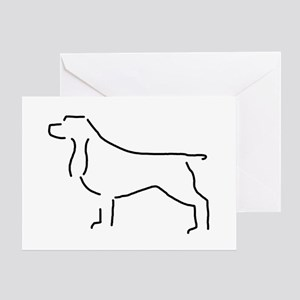 Field Spaniel Sketch Greeting Card
