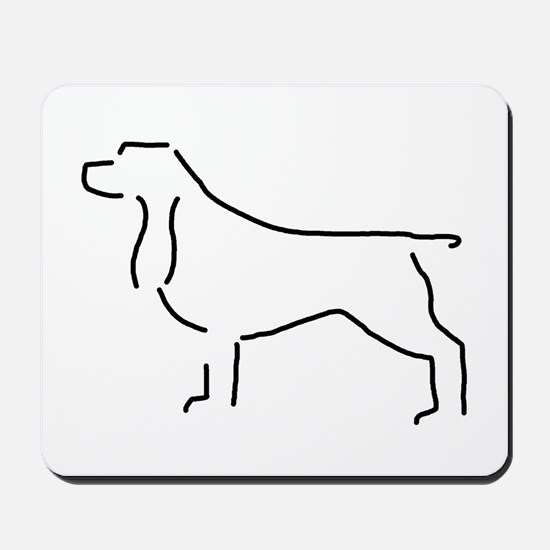 Field Spaniel Sketch Mousepad