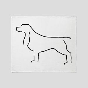 Field Spaniel Sketch Throw Blanket