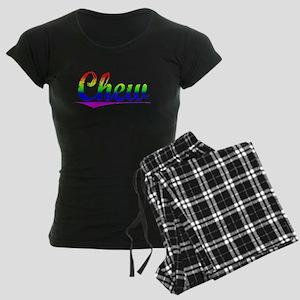 Chew, Rainbow, Women's Dark Pajamas