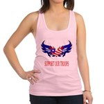 supportroopsheart7 Racerback Tank Top