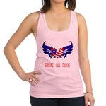 supportroopsheart6a Racerback Tank Top