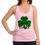 Cute and Lucky Shamrock Racerback Tank Top