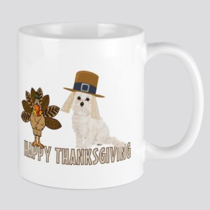 Cockapoo and Turkey Happy Thanksgiving Mug