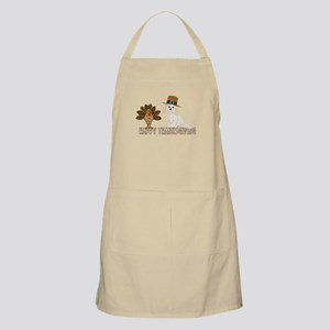Cockapoo and Turkey Happy Thanksgiving Apron