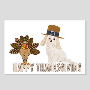 Cockapoo and Turkey Happy Thanksgiving Postcards (