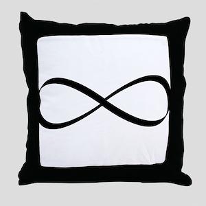 Infinity Sign Throw Pillow