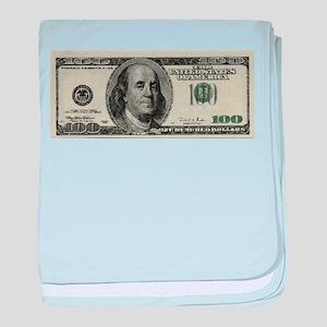 100 Dollar Bill baby blanket