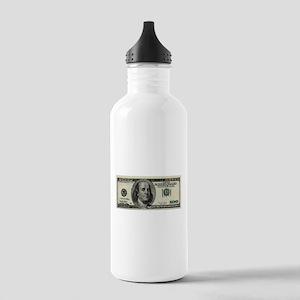100 Dollar Bill Stainless Water Bottle 1.0L