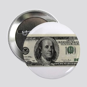 "100 Dollar Bill 2.25"" Button"
