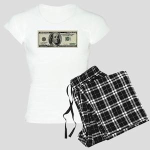 100 Dollar Bill Women's Light Pajamas