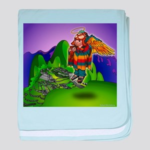 Angel de Machu Picchu baby blanket
