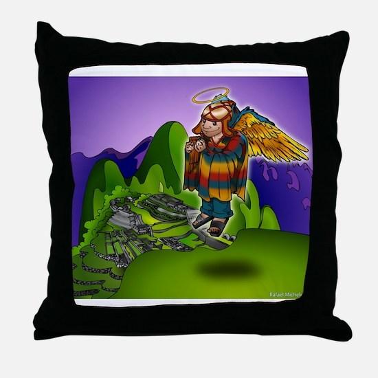 Angel de Machu Picchu Throw Pillow