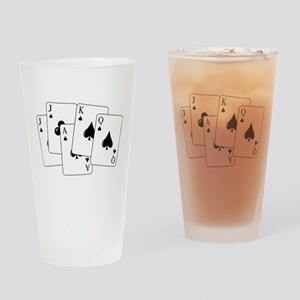 Euchre Cards Drinking Glass