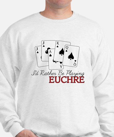 Euchre Playing Sweatshirt