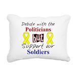 Debate Politicians Support So Rectangular Canvas P