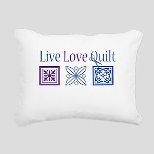 Live Love Quilt Rectangular Canvas Pillow