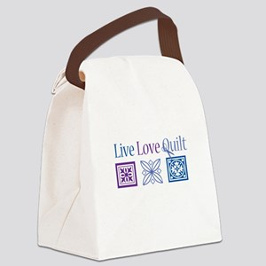 Live Love Quilt Canvas Lunch Bag