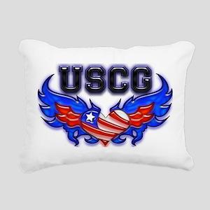 uscgheartwing2 Rectangular Canvas Pillow