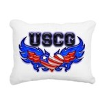 uscgheartwing2 Rectangular Canvas Pillow