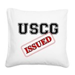 USCG Issued Square Canvas Pillow