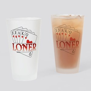 Euchre Loner Drinking Glass