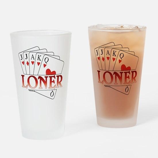 Euchre Loner Drinking Glass