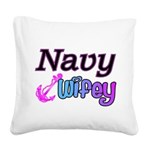 navywifey Square Canvas Pillow