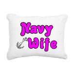 navywifeanchorpink Rectangular Canvas Pillow