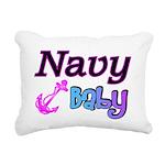 navybaby Rectangular Canvas Pillow