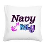 navybaby Square Canvas Pillow