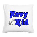 navykidanchor Square Canvas Pillow