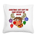 deernavy Square Canvas Pillow