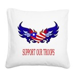 supportroopsheart7 Square Canvas Pillow