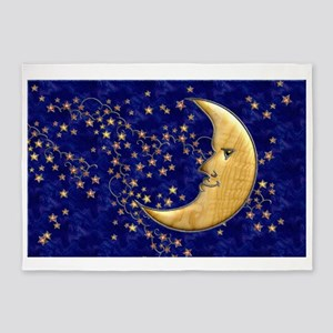 Harvest Moons Man in the Moon 5'x7'Area Rug