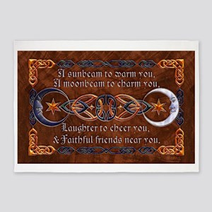 Harvest Moons Celtic Moons 5'x7'Area Rug