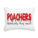 poachers Rectangular Canvas Pillow