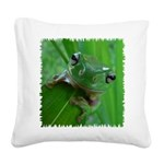 Frog Square Canvas Pillow