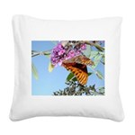 kids and butterflies050 Square Canvas Pillow