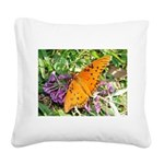 kids and butterflies046 Square Canvas Pillow