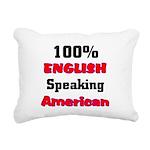 English Speaking American Rectangular Canvas Pillo